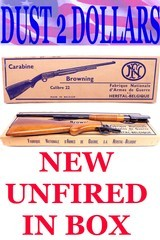Browning Belgium TROMBONE 22 LR Pump Mint Unfired In The Box All Matching Numbers Rifle and Box Complete With Packaging