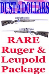 RARE Ruger No. 1 K1-V-BBZ Stainless Laminated in .204 Ruger W/Box and RARE Leupold VX-III 4.5-14X40mm Silver Anodized Scope - 1 of 10