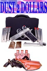 Coonan 357 Magnum Classic 1911 Stainless 357 Magnum Pistol 4x Mags Compensated Barrel Leather Holster COMPLETE PACKAGE