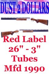 """Ruger Red Label 12 Gauge O/U Shotgun 26 Inch Barrels 3"""" Chambers Factory Tubes Manufactured 1990 VERY NICE! - 1 of 14"""