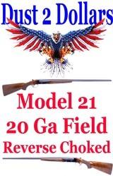 Winchester Model 21 SBS Double 20 Gauge Shotgun Field Model with Factory Letter All Original AMN C&R Ok 1955