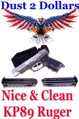 Sturm Ruger KP89 9mm Semi Automatic Pistol Stainless 2X 15 Round Mags Very Clean W/Holster - 1 of 1
