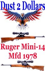 Sturm Ruger Mini 14 223 Remington Carbine Mfd 1978 181 Series Very Nice With Scope