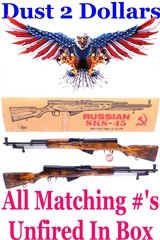 Unfired In The Box Russian 7.62x39 SKS-45 Tula Manufactured in 1954 All Matching Numbers C&R Ok