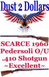 "SCARCE Pedersoli O/U Over/Under 410 Shotgun Made in Italy 1960 26"" Case Hardened Engraved Receiver AMN C&R Ok - 1 of 10"