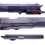 Gorgeous Steve Huff Engraved Colt Government MK IV 70 Series 1911 .45 ACP Pistol Cased - 8 of 16