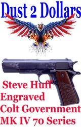 Gorgeous Steve Huff Engraved Colt Government MK IV 70 Series 1911 .45 ACP Pistol Cased - 1 of 16