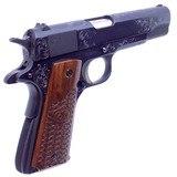 Gorgeous Steve Huff Engraved Colt Government MK IV 70 Series 1911 .45 ACP Pistol Cased - 6 of 16
