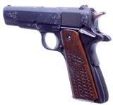 Gorgeous Steve Huff Engraved Colt Government MK IV 70 Series 1911 .45 ACP Pistol Cased - 3 of 16