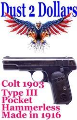 colt-1903-type-iii-pocket-hammerless-32-auto-semi-automatic-pistol-manufactured-1916-w-original-magazine
