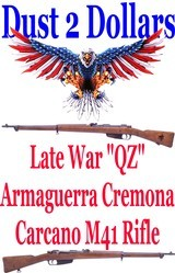 SCARCE Very Late WWII Armaguerra Cremona Carcano M41 Model 41 6.5 Carcano Rifle QZ Block 1943 - 1 of 20