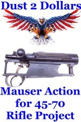 All Original Siamese Type 46 Mauser Action Only Complete for Custom 45-70 Rifle Project - 1 of 8