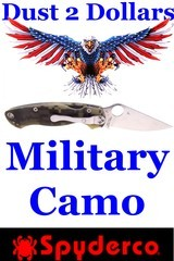 Spyderco C36 Military Model Folding Knife with G10 Digital Camo Scales with a CPM S30V Blade Not Carried - 1 of 7