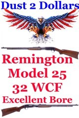 remington-model-25-pump-action-32-20-wcf-rifle-manufactured-in-february-of-1929-c-r-ok-very-fine-bore