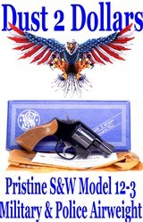 "Pristine Smith & Wesson Model 12-3 Military & Police Airweight 2"" SA/DA.38 Special Revolver Made in 1982 In The Box - 1 of 16"