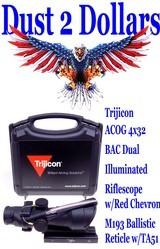 anib-as-new-in-the-box-trijicon-acog-4x32-bac-dual-illuminated-rifle-scope-w-red-chevron-m193-ballistic-reticle-w-ta51-100288