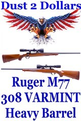 Sturm Ruger M77 M77V VARMINT Rifle Heavy Barrel Tang Safety Version Winchester Burris Signature USA Made Scope