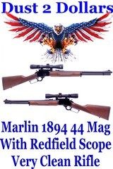 Pristine Marlin Model 1894 Lever Action Rifle Chambered in .44 Magnum - .44 Special with Redfield 2x-7x Scope