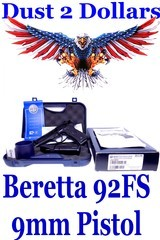 Gorgeous Beretta Model M92 FS – 92FS 9mm Semi Automatic Pistol in the Original Box W/Paperwork Manual 2x 15 Round Magazines