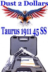 Boxed Taurus 1911 Government Stainless Steel Semi Automatic Pistol Chambered in .45 ACP Very Clean - 1 of 12
