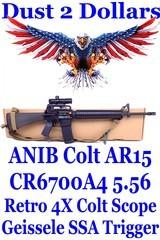 "gorgeous anib customized colt cr6700a4 20"" ar 15 .223/5.56 with geissele ssa trigger brownells retro 4x bdc scope"