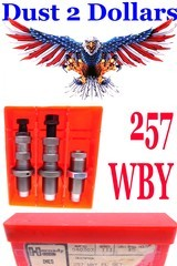 Boxed Hornady Full Length Sizing Reloading Dies for the .257 Weatherby Magnum With Lee Factory Crimp Die - 1 of 1