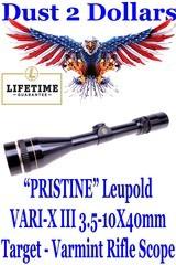 PRISTINE Leupold VARI-X III 3.5-10X40mm Target - Varmint Rifle Scope with Adjustable Objective Duplex Reticle Gloss
