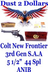"""ANIB Colt New Frontier 3rd Generation S.A.A. Blue Case Colored 5 1/2"""" .44 Special In The Box Mfd 1980 Tom Sargis Action Job - 1 of 17"""