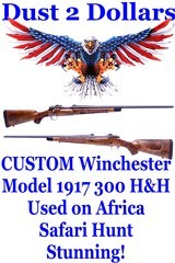 CUSTOM Winchester Model 1917 Chambered in 300 H&H Built for an African Safari Adventure Amazing Stcok & Work - 1 of 19