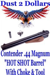 """Thompson Center Arms Contender .44 Magnum HOT SHOT 10"""" Ribbed Round Bull Barrel With Choke and Tool"""