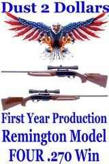 First Year Production Remington Model Four 4 Semi Automatic Rifle Chambered in .270 Winchester Very Clean - 1 of 17