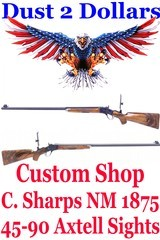 Custom Shop C. Sharps New Model 1875 Long Range Sporting – Target Rifle chambered in .45-90 Tom Axtell Sights