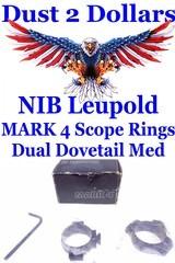 NIB U.S.A. Manufactured Leupold MARK 4 30mm Matte Finish Dual Dovetail Scope Rings
