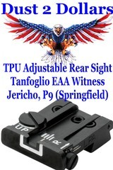 New in the package TPU Adjustable Rear Sight TPU95TA For: Tanfoglio EAA Witness Jericho P9 Springfield