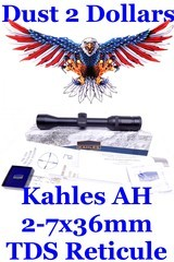 new-in-the-box-kahles-ah-2-7x36mm-rifle-scope-with-tds-reticule-1-tube-with-matte-finish