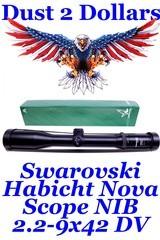 new in the box swarovski habicht nova 2.2 9x42 dv rifle scope 30mm with the 7a reticule