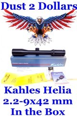 nice kahles helia l 2.2 9x42 mm rifle scope with plex reticule 30mm tube with original box 397806