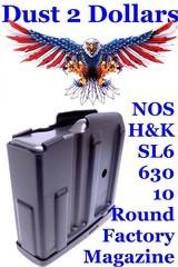 New Old Stock H&K Heckler & Koch Model SL6 – 630 10 Round Factory Magazine 223 222 Marked