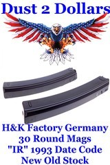 NOS H&K Heckler & Koch MP5 94 SP89 MP5K 30 Round 9x19 9mm Factory Magazines Date Code 1993 - 1 of 6