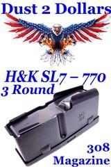 NOS H&K Heckler & Koch Model SL7 – 770 3 Round Factory 308 Winchester Hunting Magazine
