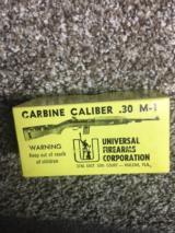 "Universal .30 M1 Carbine Ammo ""Rare Box"""
