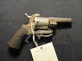 French or Belgium Pinfire Revolver