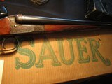 "Sauer, JP Sauer and Son, Royal 12ga, 28"" in factory box! Made 1960"