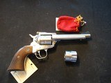 Ruger new Model Single Six Convertible, Stainless, 22LR and Mag, 1977, CLEAN - 1 of 14
