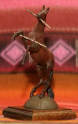 Limited Edition Cold Cast Rampant Colt Sculpture with books - 3 of 7