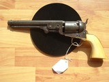 EARLY HARTFORD COLT NAVY REVOLVER WITH PERIOD IVORY GRIPS - 1 of 12