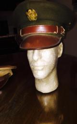 WWII Army officers cap size 6 7/8 original condition-piece of history you can wear - 6 of 7