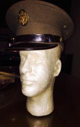 Marine Corp dress visor cap -excellent condition WWII