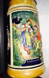 German Steiner Mug-colorful and inscribed -perfect condition