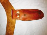 "Cowboy quick draw holster with tan leather belt -46"" 25 loops in 22 caliber - 2 of 6"